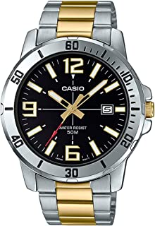 Casio Mens Quartz Watch, Analog Display and Stainless Steel Strap MTP-VD01SG-1BVUDF