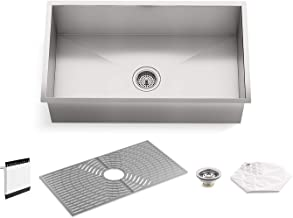 "Kohler K-20022-PC-NA STERLING Ludington 32"" Under Mount Single Bowl Kitchen Sink.."