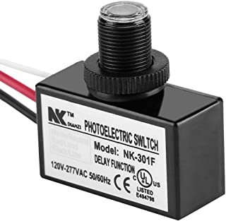 Lightc, 120V-277VAC Light Sensor Control Automatic On/Off Photoelectric Switch for Lighting Fixtures