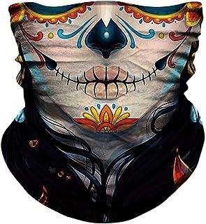 YOSUNPING máscara de calavera sin costuras, con bandera de