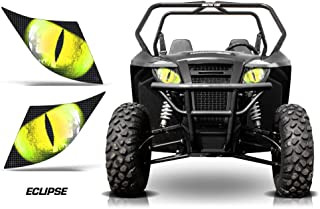 AMR Racing UTV Headlight Eye Graphic Decal Cover for Arctic Cat Wildcat Sport - Eclipse Yellow