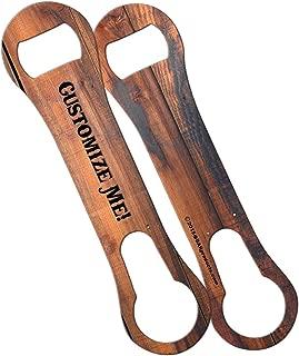 custom wood bottle opener