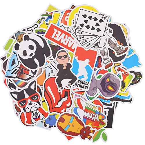 BESLIME Pacchetto Adesivi, 100Pcs Viaggio Vinile Graffiti Adesivi, Adatto per Tavola da Snowboard Bagagli iPhone Valigia Car Bike Adesivo Confezione Art Retro Graffiti Decal Stickers Pack