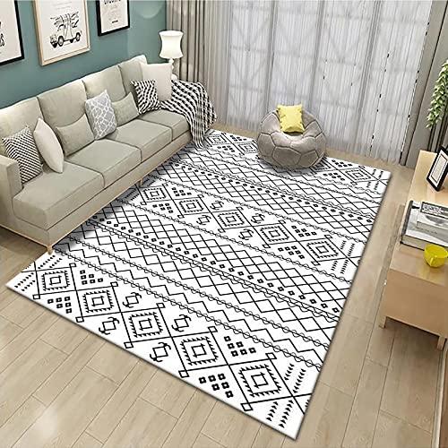 SunYe Alfombra De Impresión Irregular Geométrica Moderna Alfombrilla Gruesa Impermeable Y A Prueba De Aceite Adecuada para Ventana Mirador Hotel Dormitorio