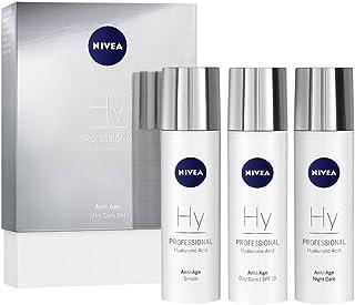 NIVEA PROFESSIONAL Ácido hialurónico kit en tamaño pequeño crema de día con protector solar 15 crema de noche y sérum f...