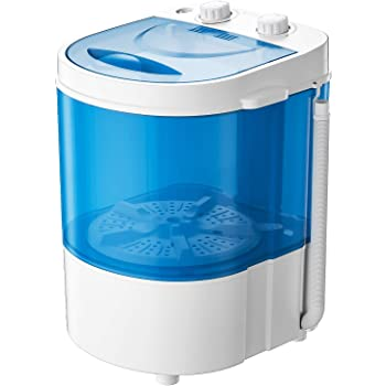 Auertech Mini Washing Machine, Portable Compact Laundry Machine Washer, Time Control, for Dorms, Apartments, RVs