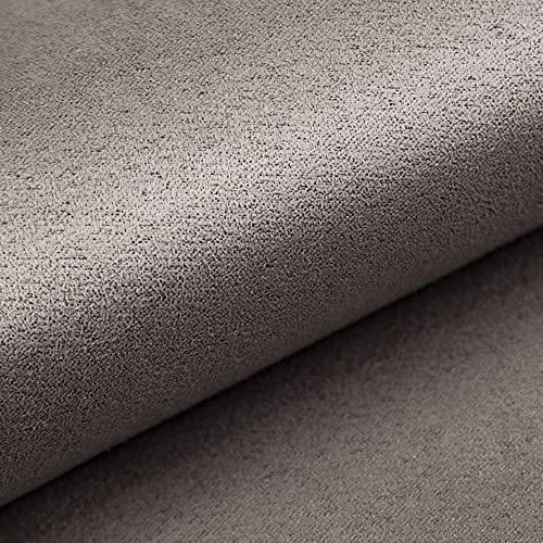 NOVELY® Alpen Polsterstoff im Wildleder-Look | Bezugsstoff | Microfaser | Velours | Möbelstoff (60 Grau)