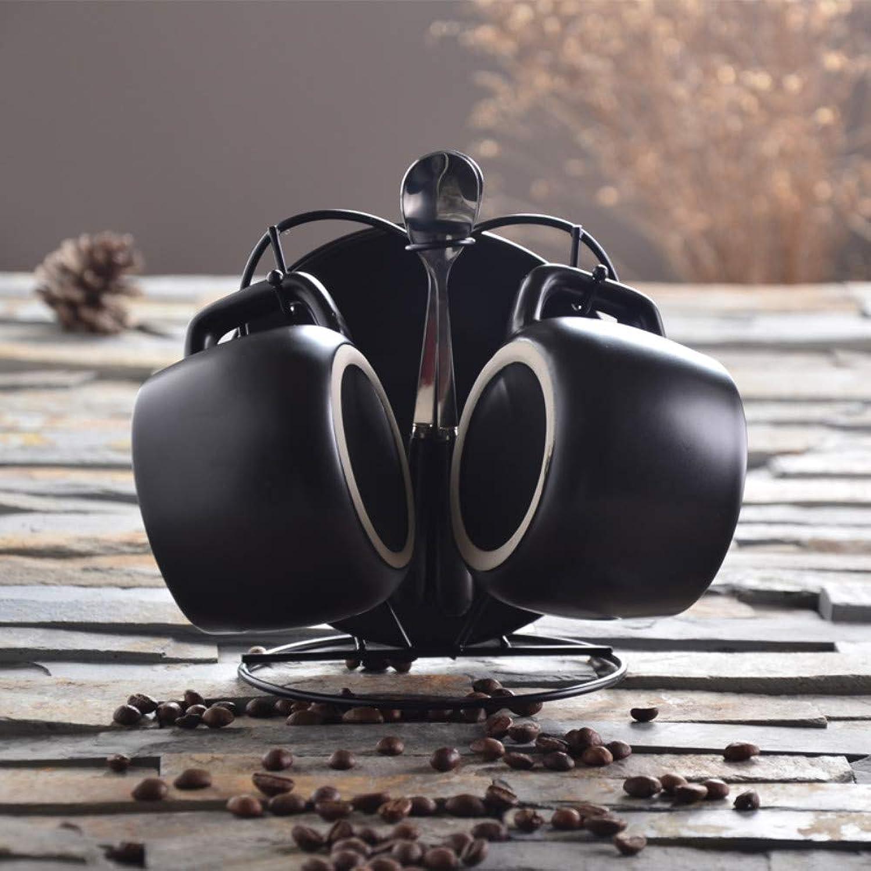 tienda en linea Winpavo Tazas Mugs Juego De Tazas Tazas Tazas De Café para El Hogar De Cerámica Europeo Simple con Personalidad De Cuchara Juego De Café De Oficina De 3 Piezas, B  barato y de moda
