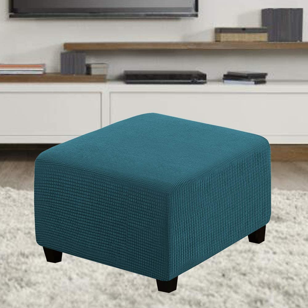SANOCAY High Stretch 1-Piece Square Minneapolis Clearance SALE! Limited time! Mall S Cozy Soft Jacquard Ottoman