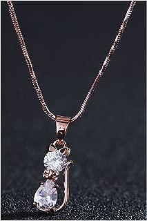 Aristocratic Cat-Zircon Pendant Necklace Item Upscale Europe and America Crystal Jewelry