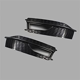 Fog Light Lamp Grille Grill Cover Bezel Plate for Audi A4 S-Line S4 2013-2015 (US Stock)