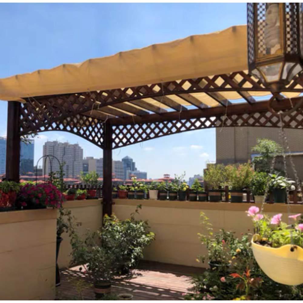 GHHZZQ Toldo Vela de Sombra, Ahorro de energía Sombrilla, Transpirable Toldo Rectangular, Vela de Sombra for Patio Exteriores Jardín (Color : Beige, Size : 6x6m): Amazon.es: Hogar
