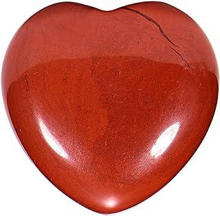 Morella Pierres précieuses en forme de cœur Jaspe rouge Ange porte bonheur ange gardien à emporter partout 3 cm dans un sa...