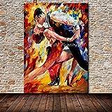 ZLYYH Peinture À l'huile sur Toile l'art De Mur Moderne Peint À La Main Photo des Danseurs De Ballet De l'huile Au...