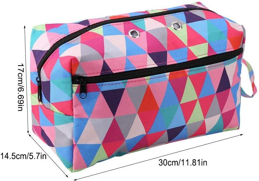 hohe Kapazit/ät Multi-Color Square Hyuduo Knitting Bag,Stricktasche Aufbewahrung,Garn Lagerung Organizer Bag,18.5cm*15.5cm*14.17cm,Strickbeutel,Garn Aufbewahrungstasche h/äkeln Tasche