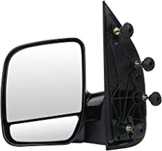 SCITOO Towing Mirrors, fit Ford Exterior Accessories Mirrors fit 02-08 Ford E150 E250 E350 E450 E550 Van with Duel Glass Foldable Manual Controlling Features (Driver Side)
