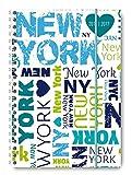 Collegetimer New York 2016/2017 - Schülerkalender A5 - Weekly - Ringbindung - 224 Seiten