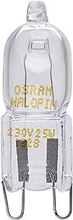 Osram Halopin Backofen-Lampe 230 V, 25 W, G9 Halogen, Stiftform, für Bosch, Neff, Siemens, Delonghi, Ocean, Fagor, für Öfen und Mikrowellen, geeignet für hohe Temperaturen