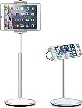 Saiji Tablet Stand holder، ارتفاع قابل تنظیم، 360 درجه چرخش، آلیاژ آلومینیوم گهواره کوه بارانداز برای 4.7-12.9 اینچ آیفون سامسونگ، iPad، Nintendo سوئیچ، روشن شدن، کتاب خوان (نقره ای)