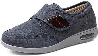 Nwarmsouth Chaussures pour œdèmes diabétiques Larges,Chaussures diabétiques en Vrac de Pied, Chaussures réglables pour Les...