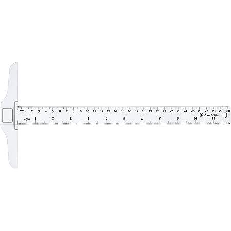 12 Pouces/ 30 cm T-Square Junior en Plastique T-Règle Transparent pour Rédaction et Travail Général de Mise en Page (1)