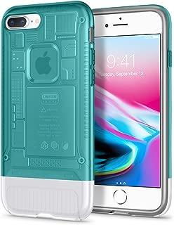 Spigen Classic C1 (10th Anniversary Limited Edition) Designed for Apple iPhone 8 Plus Case (2017) - Bondi Blue