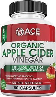 ACE NUTRITION Ace Nutrition Organic Apple Cider Vinegar Capsules (1000 Mg) With Probiotics (1 Billion Units)   Natural Det...