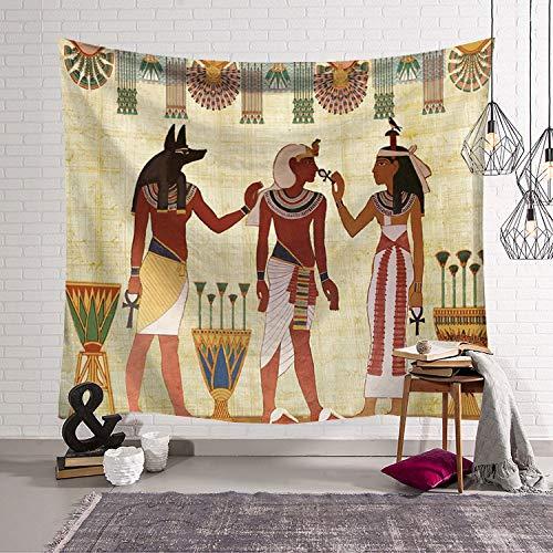 JXCDNB 95x73cmTapiz Vintage Antiguo Egipto Tapiz Colgante de Pared Cultura Antigua Impreso Tapices Hippie Accesorios de decoración del hogar de Pared