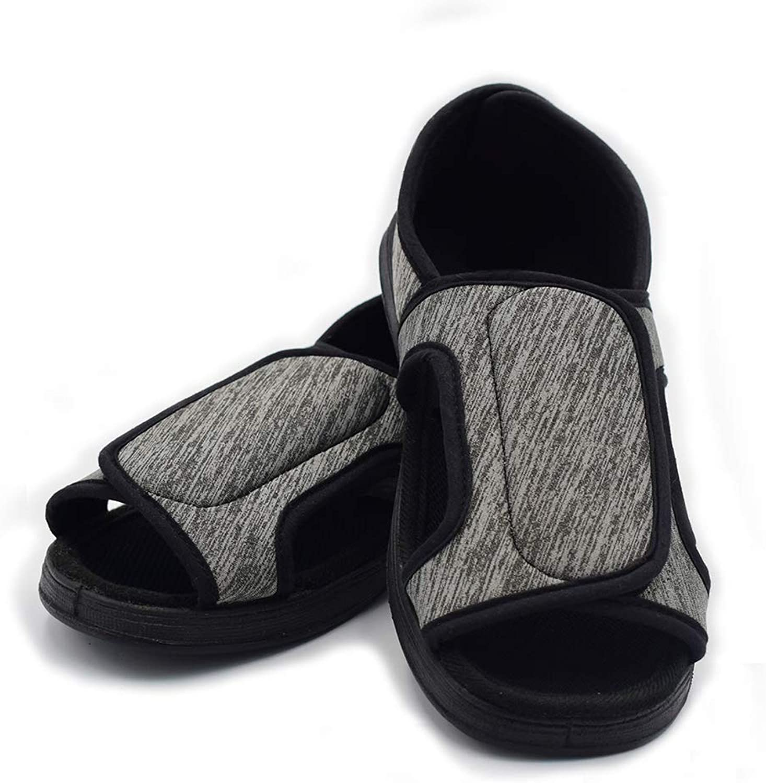 Mei MACLEOD Women Extra Wide Width Arthritis Edema Open Toe Slipper Non-Slip Diabetic Swollen Feet shoes