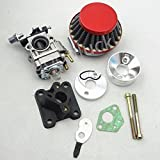 huopu carburador Carb Rojo filtro de aire pila para 47cc 49cc Mini bolsillo Pit Dirt Bike