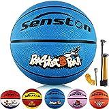 Senston Ballon de Basket-Ball Basketball Enfant Caoutchouc Doux et Bouncy Basketball Extérieur et...
