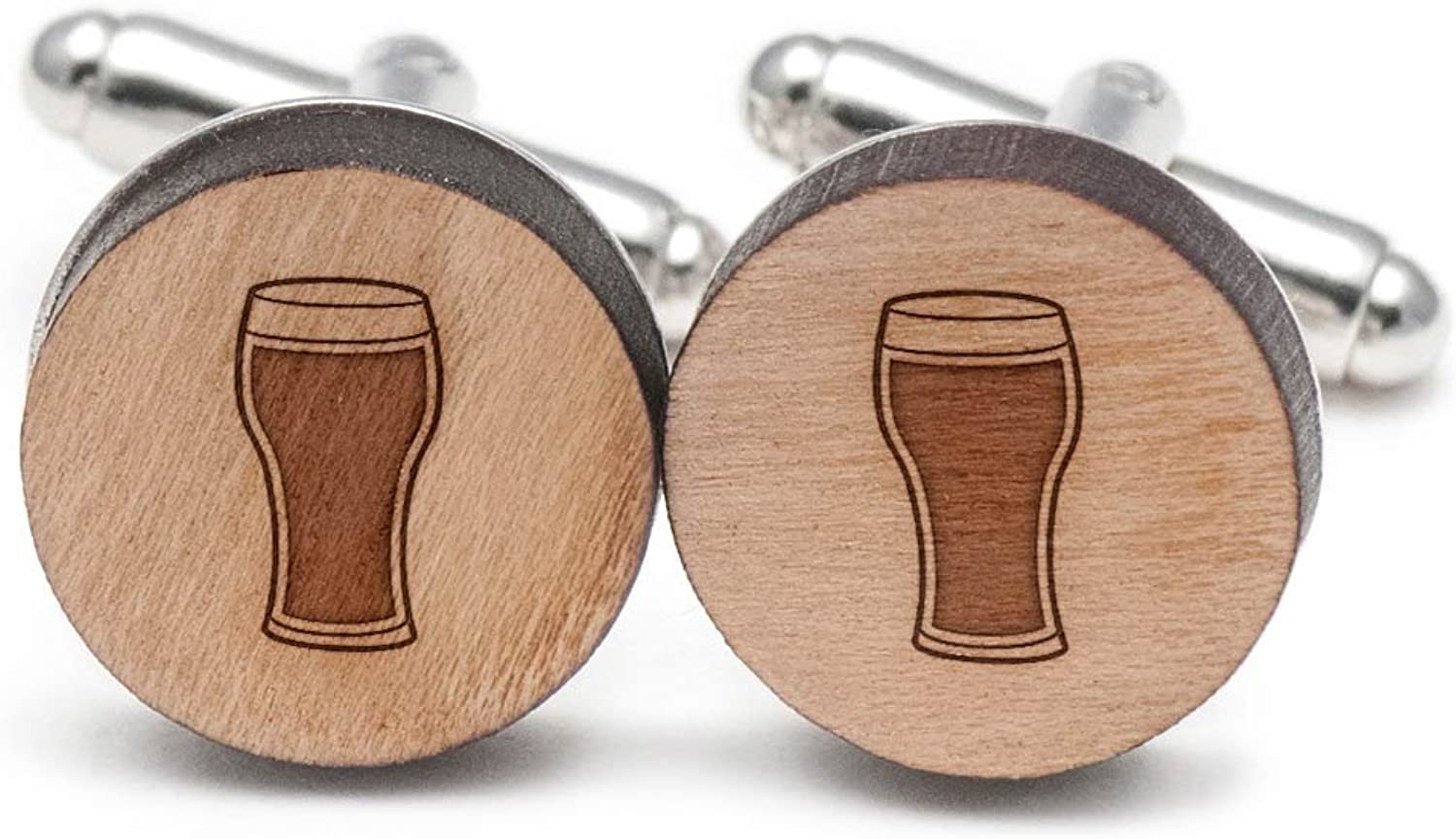 Imperial Ale Cufflinks, Wood Cufflinks Hand Made in the USA