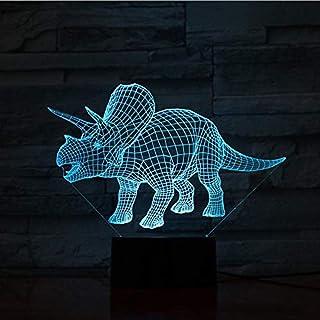 Luces de dinosaurio 7 luz de noche de color lámpara de mesa junto a la noche