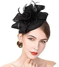 YIULSG Fascinators for Women Feather Fascinator Hats Headband Pillbox Hat for Wedding Church Deryby Tea Party