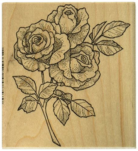 Stamps by Impression Roses Rubber Stamp