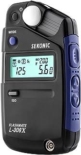 Sekonic Flashmate L-308X Belichtingsmeter Voor Fotografen En Films, Zwart/Blauw