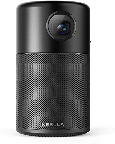 Nebula Capsule, Smart Portable Projector, Pocket Cinema with High-Contrast, Remarkable 100'' Picture, 360° Speaker, A...