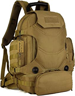 Huntvp 40L Tactical Military MOLLE Backpack WR 3 Way Modular Pack with Patch