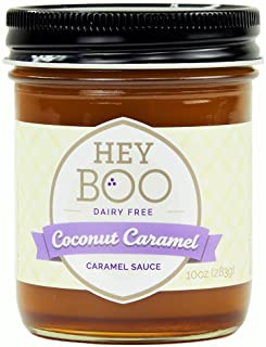 Coconut Caramel Sauce by Hey Boo - Delicious - No Corn Syrup - Vegan - Made in USA, 10 oz