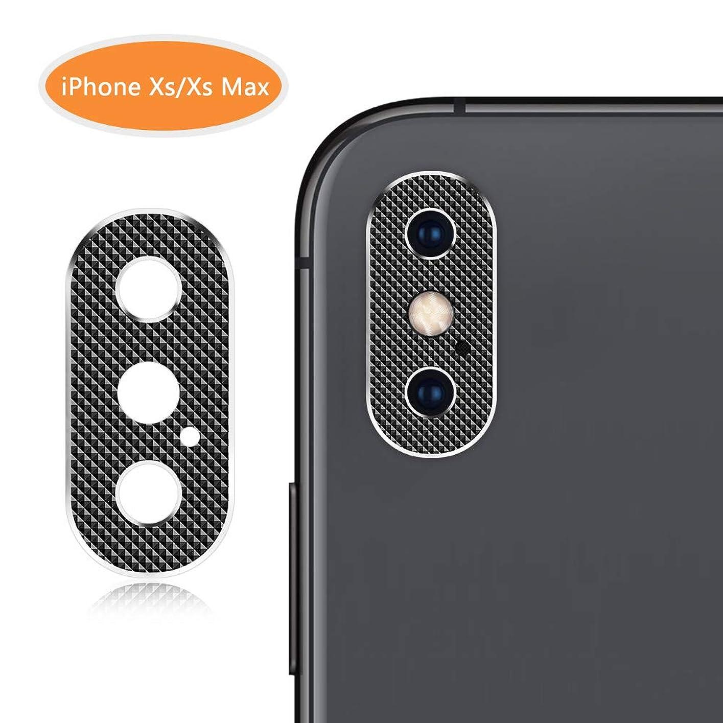 アイフォン XS/XS MAX カメラレンズ 保護リング アイフォンXS/XS MAX レンズ保護ケース レンズガード アルミニウムカバー バンパー 全面保護 傷防止 一体感溢れ(黒) (アイフォン XS/XS MAX)