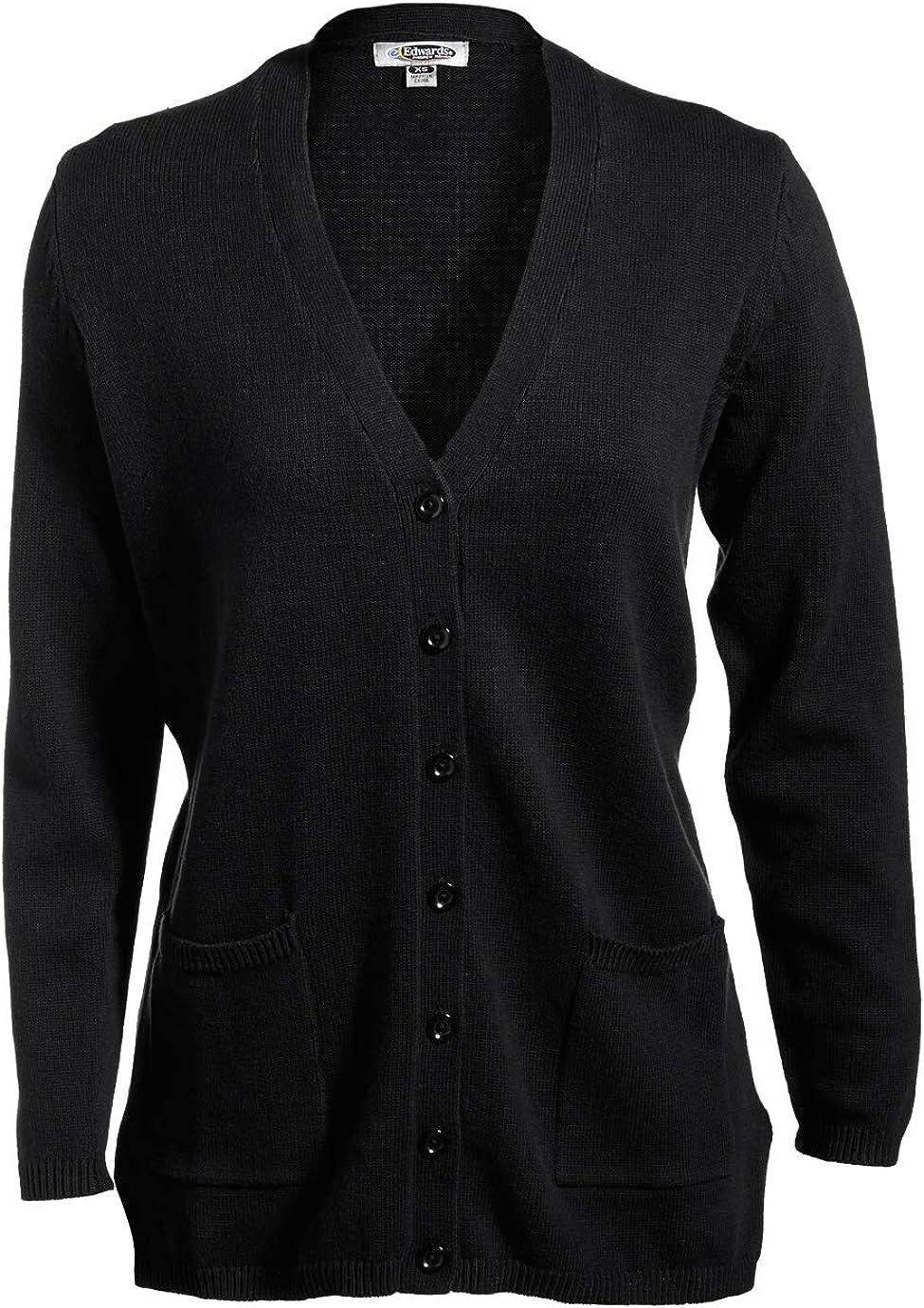 Edwards V-Neck Button Acrylic Cardigan Sweater X-Small White
