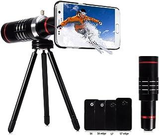 Handy Zoom Objektiv und monokulares Fernrohr, 18 fache Vergrößerung, 18X Samsung Black, 18X Lens
