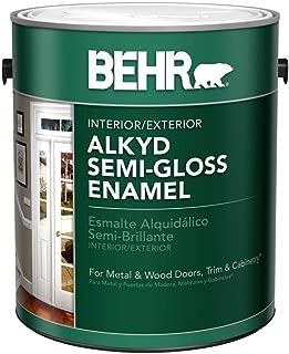 BEHR 1-Gal. White Alkyd Semi-Gloss Enamel Interior/Exterior Paint