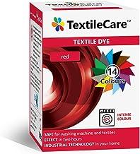 TextileCare Wasmachine Stof Dye voor kleding en textiel, 350 g kleurstof voor 600 g kleding, 14 kleuren (rood)