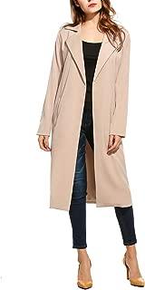 Zeagoo Women's Open Front Long Trench Coat Casual LightweightBlazer Cardigans Winter Outdoor