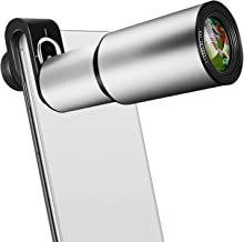 Cell Phone Lens, 16X Zoom Telephoto Lens, Aluminium Alloy HD Phone Camera Lens for iPhone, Samsung, Android Smartphone, Monocular Telescope