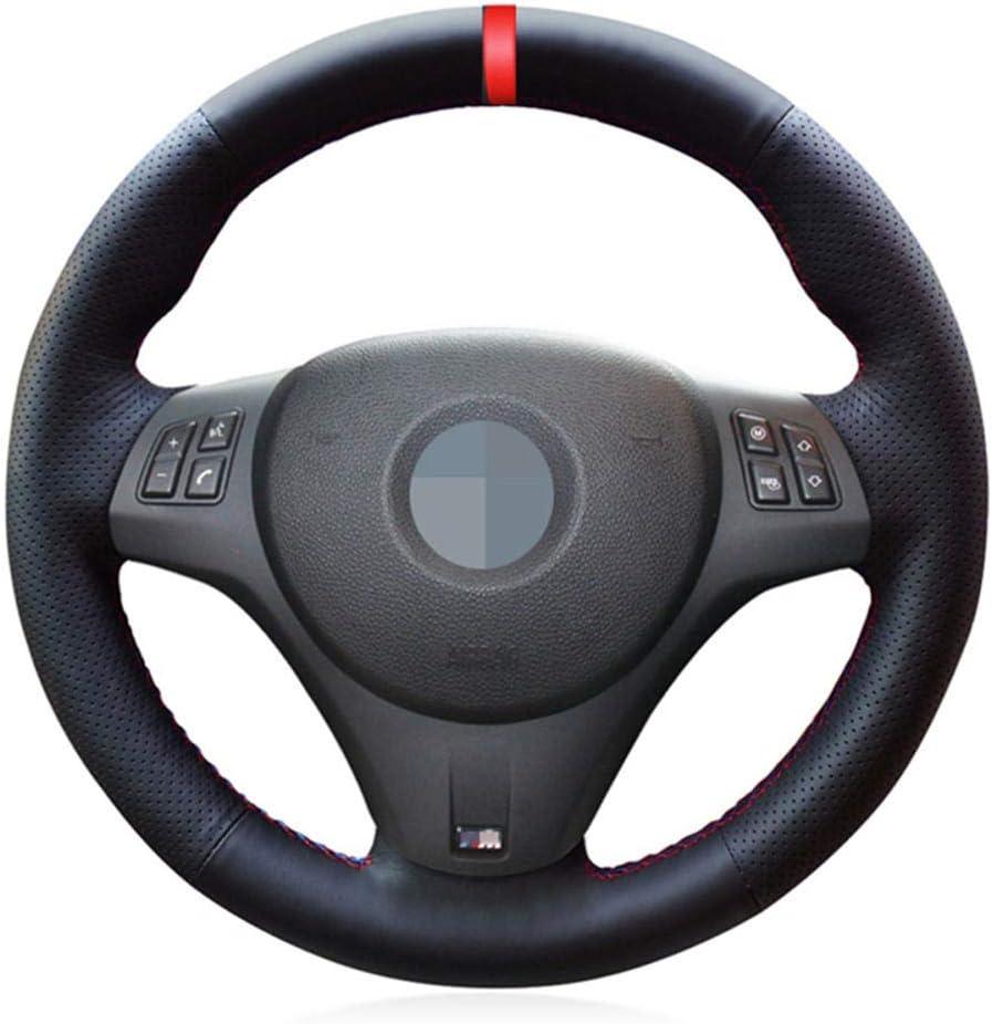 ZHHRHC Couvre-Volant de Voiture en Cuir Noir Cousu /à la Main int/érieur Automobile pour BMW M Sport M3 E90 E91 E92 E93 E87