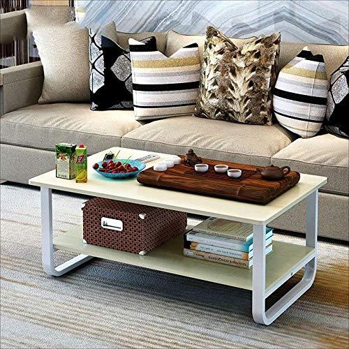LLA Couchtische Kleine Wohnung Niedriger Tisch Einfacher moderner Beistelltisch,Doppel 100cm Kirschholz