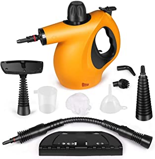 Pressure Steam Cleaner, Car Cleaning Portable Handheld Steamer Cleaner with 9-Piece Accessories Chemical-Free Cleaning for...