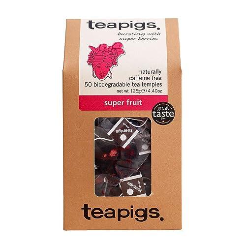 teapigs Super Fruit Tea 125 g (Pack of 1, Total 50 Tea Bags)